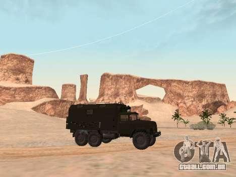 ZIL 131 Kung para GTA San Andreas traseira esquerda vista