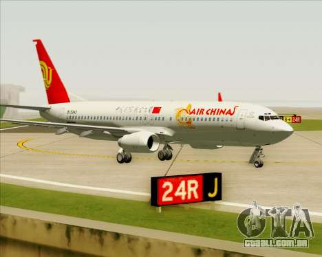 Boeing 737-89L Air China para GTA San Andreas esquerda vista