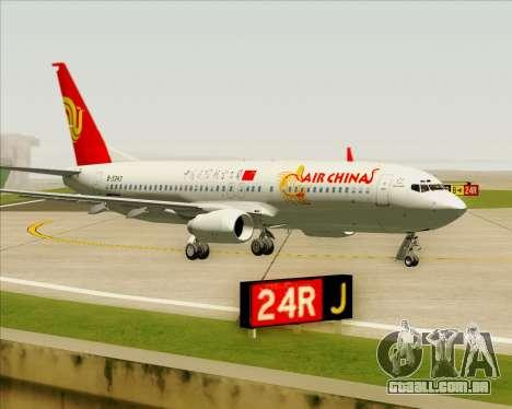 Boeing 737-89L Air China para GTA San Andreas esquerda vista