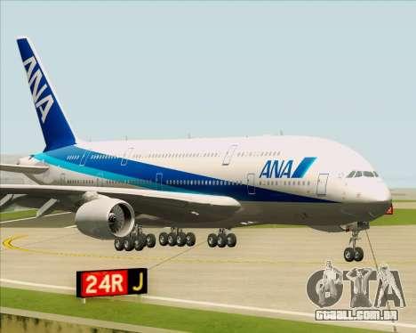 Airbus A380-800 All Nippon Airways (ANA) para GTA San Andreas esquerda vista