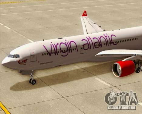 Airbus A330-300 Virgin Atlantic Airways para GTA San Andreas interior
