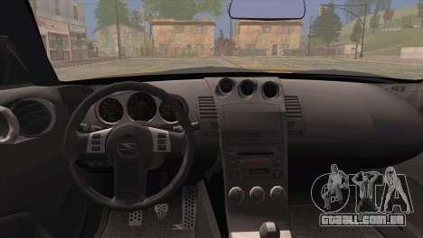 Nissan 350Z Turkey Tuned Drift para GTA San Andreas traseira esquerda vista