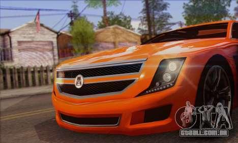 Alpha - DLC Business GTA V para GTA San Andreas traseira esquerda vista