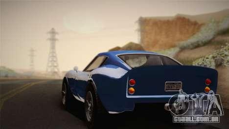 GTA 5 Stinger GT para GTA San Andreas traseira esquerda vista