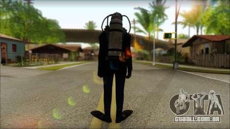 Mergulhador para GTA San Andreas segunda tela
