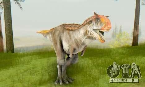 Carnotaurus para GTA San Andreas por diante tela