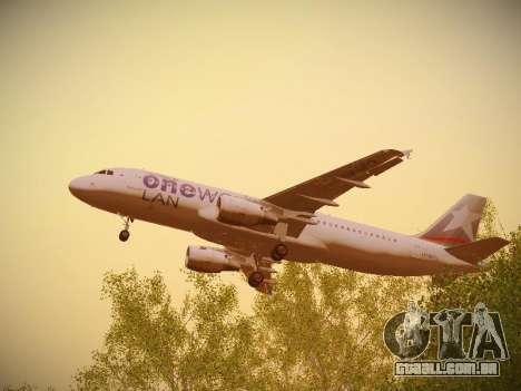 Airbus A320-214 LAN Oneworld para GTA San Andreas vista superior