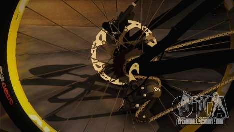 Banshee Rampant Bike para GTA San Andreas traseira esquerda vista