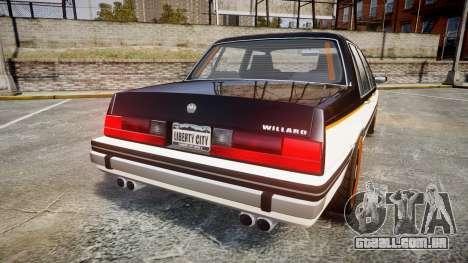 Willard Watch Dogs Black Viceroys para GTA 4 traseira esquerda vista