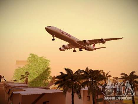 Airbus A340-600 Qatar Airways para GTA San Andreas vista interior