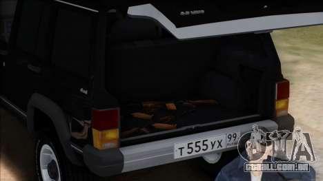 Jeep Cherokee para GTA San Andreas vista superior