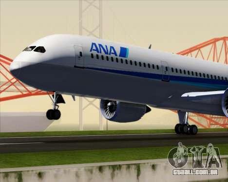 Boeing 787-9 All Nippon Airways para GTA San Andreas vista superior