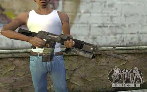 AK-101 com a segurança dos nossos (Battlefield 2 para GTA San Andreas terceira tela