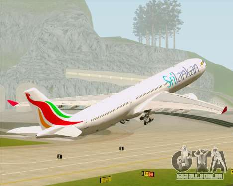 Airbus A330-300 SriLankan Airlines para as rodas de GTA San Andreas