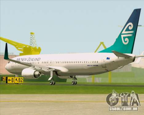 Boeing 737-800 Air New Zealand para GTA San Andreas vista direita