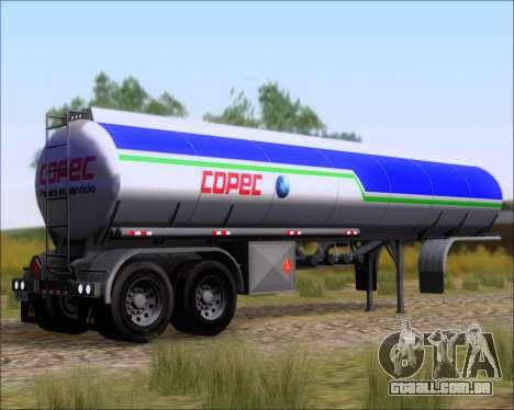 Tanque de reboque Carro Copec para GTA San Andreas esquerda vista