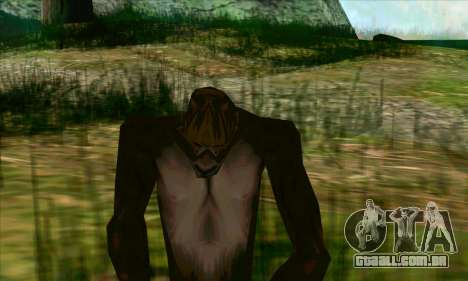 Pé grande (Bigfoot) no monte Chiliad para GTA San Andreas