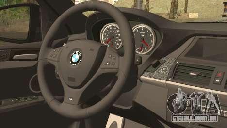 BMW X6M Lumma para GTA San Andreas traseira esquerda vista