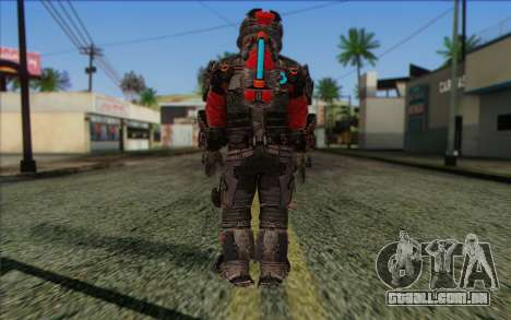 John Carver from Dead Space 3 para GTA San Andreas segunda tela