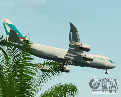 Boeing 747-8 Cargo Cathay Pacific Cargo para as rodas de GTA San Andreas