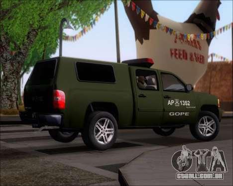 Chevrolet Silverado Gope para GTA San Andreas vista direita