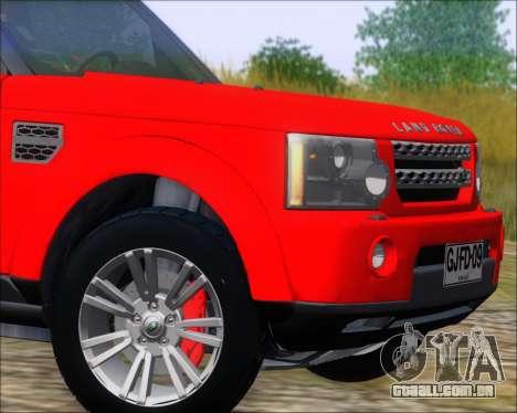 Land Rover Discovery 4 para GTA San Andreas