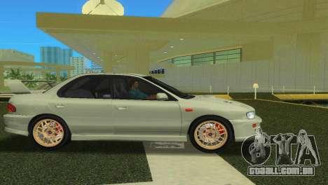 Subaru Impreza WRX STI GC8 Sedan Type 2 para GTA Vice City vista direita