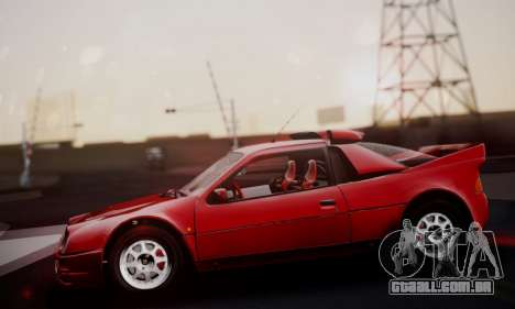 Ford RS200 Evolution 1985 para vista lateral GTA San Andreas