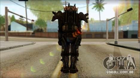 Enclave Tesla Soldier from Fallout 3 para GTA San Andreas segunda tela