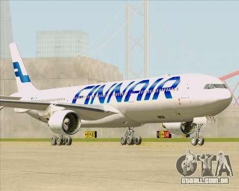 Airbus A330-300 Finnair (Current Livery) para GTA San Andreas traseira esquerda vista