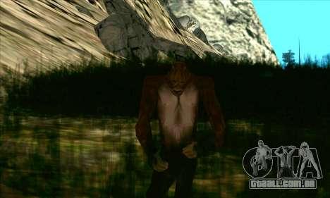 Pé grande (Bigfoot) no monte Chiliad para GTA San Andreas segunda tela