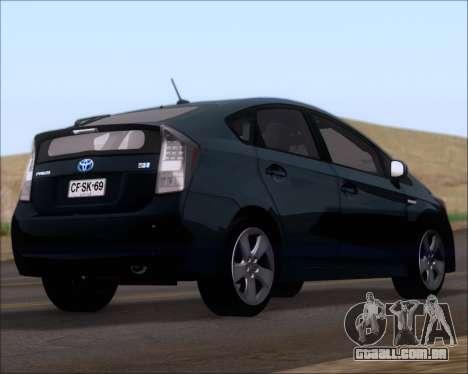 Toyota Prius para GTA San Andreas esquerda vista