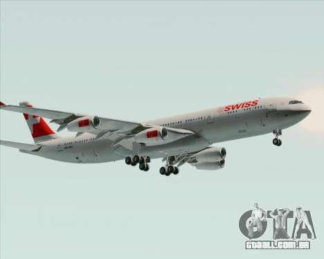 Airbus A340-313 Swiss International Airlines para GTA San Andreas vista traseira