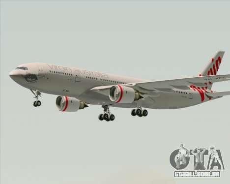 Airbus A330-200 Virgin Australia para GTA San Andreas vista interior