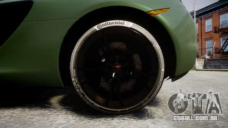 McLaren 650S Spider 2014 [EPM] Continental para GTA 4 vista de volta