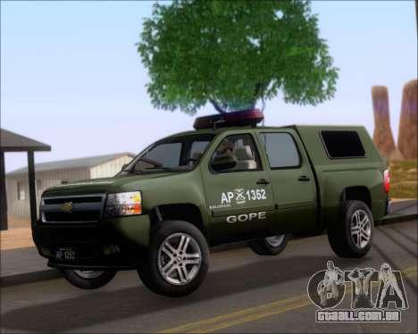 Chevrolet Silverado Gope para GTA San Andreas esquerda vista