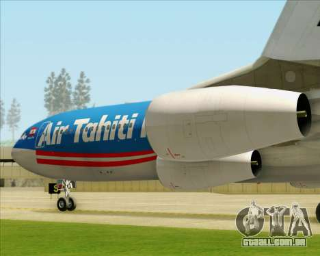 Airbus A340-313 Air Tahiti Nui para as rodas de GTA San Andreas