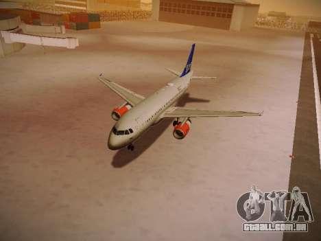 Airbus A319-132 Scandinavian Airlines para as rodas de GTA San Andreas