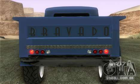 Bravado Duneloader Classic 1.0 (IVF) para GTA San Andreas traseira esquerda vista