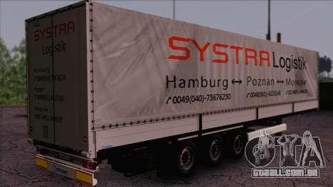 Krone SPD27 Systra Logistik para GTA San Andreas esquerda vista