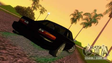 Nissan Silvia S13 RB26DETT Black Revel para GTA Vice City vista traseira esquerda