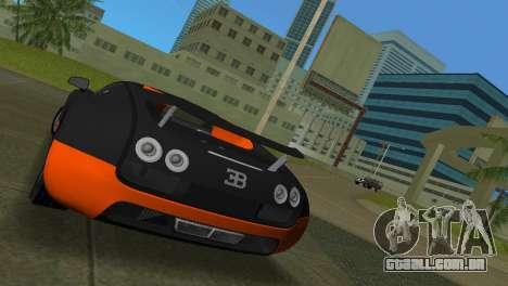 Bugatti Veyron Super Sport para GTA Vice City vista traseira esquerda