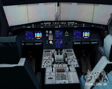Airbus A340-313 Swiss International Airlines para GTA San Andreas vista inferior