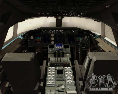 Boeing 747-8 Cargo Korean Air Cargo para GTA San Andreas interior
