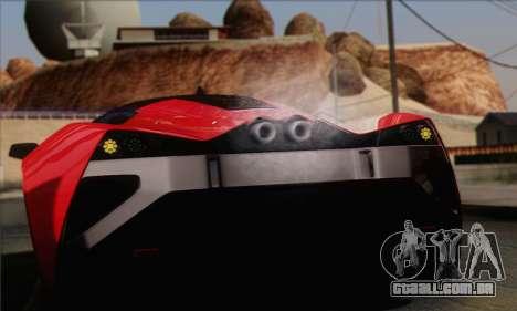 Marussia B2 para GTA San Andreas vista interior