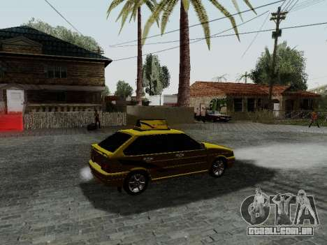 VAZ 2114 TMK afterburner para GTA San Andreas vista direita