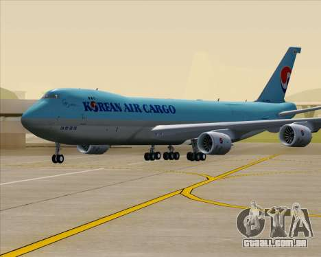 Boeing 747-8 Cargo Korean Air Cargo para GTA San Andreas vista superior