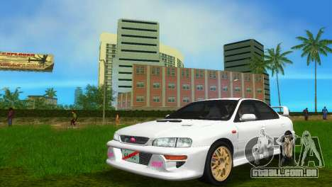 Subaru Impreza WRX STI GC8 Sedan Type 3 para GTA Vice City vista traseira esquerda