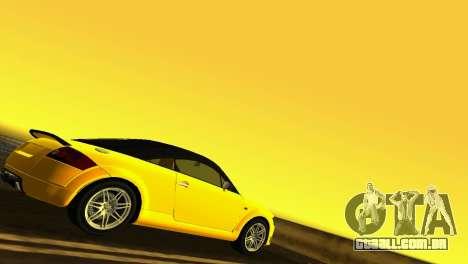 Audi TT Coupe BiMotor Black Revel para GTA Vice City vista direita
