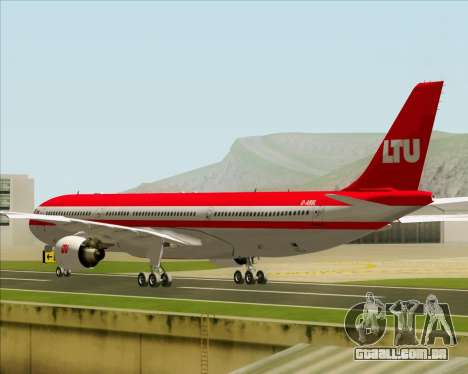 Airbus A330-300 LTU International para GTA San Andreas vista direita